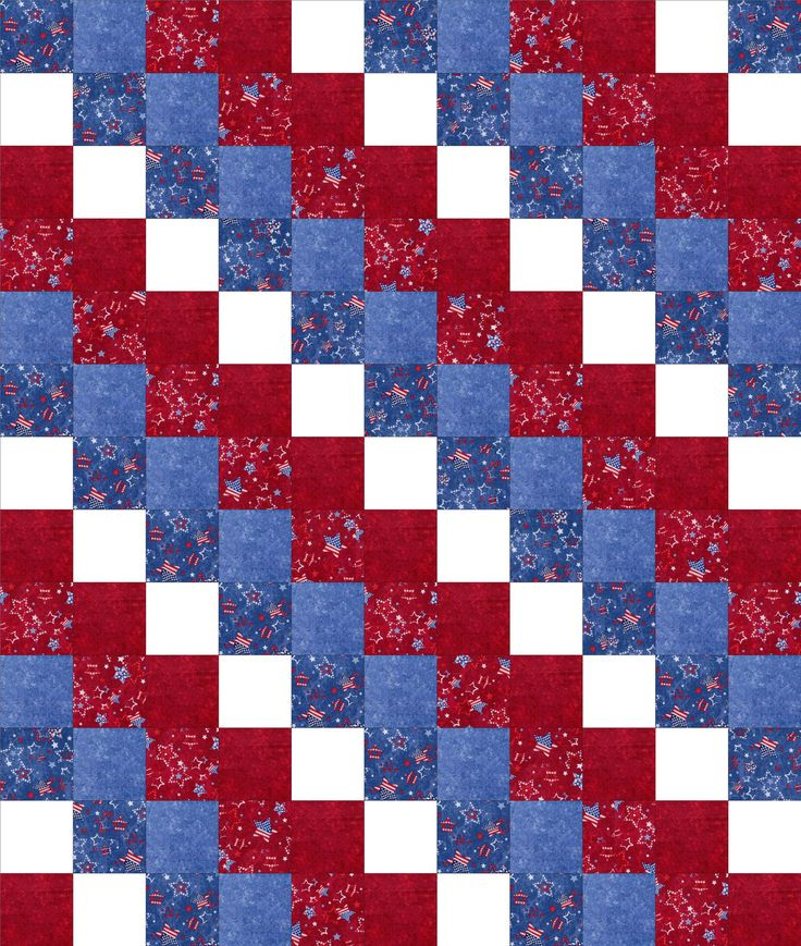Simple Block Quilt Patterns For Beginners : We are using a simple easy to sew quilt block pattern and these beautiful patriotic fabrics ...