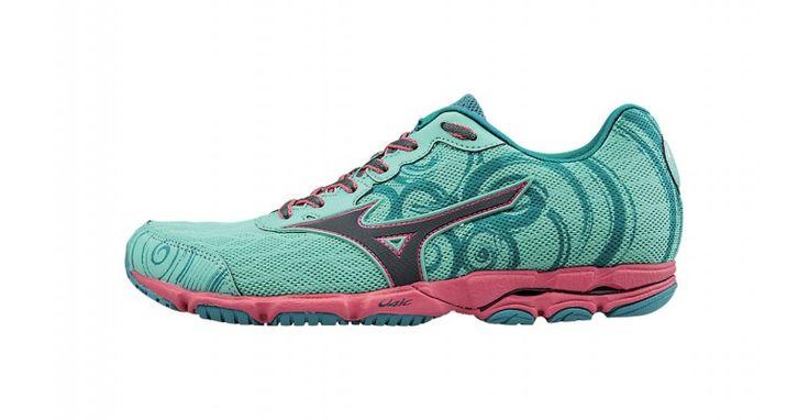 Women's Mizuno Wave Hitogami 2 Running Shoes - Color: Florida Keys/Turbulence (Regular Width) - Size: 6