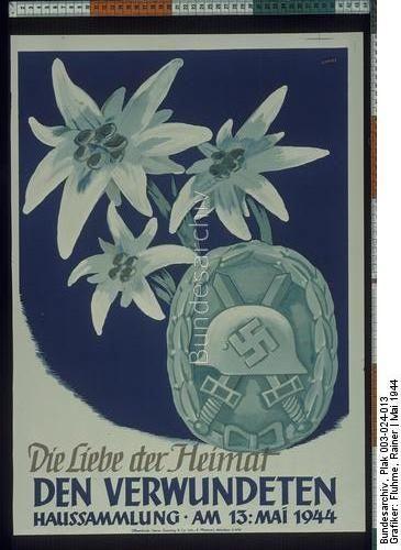 Die Liebe der Heimat den Verwundeten Haussammlung am 13. Mai 1944 Dating:Mai 1944