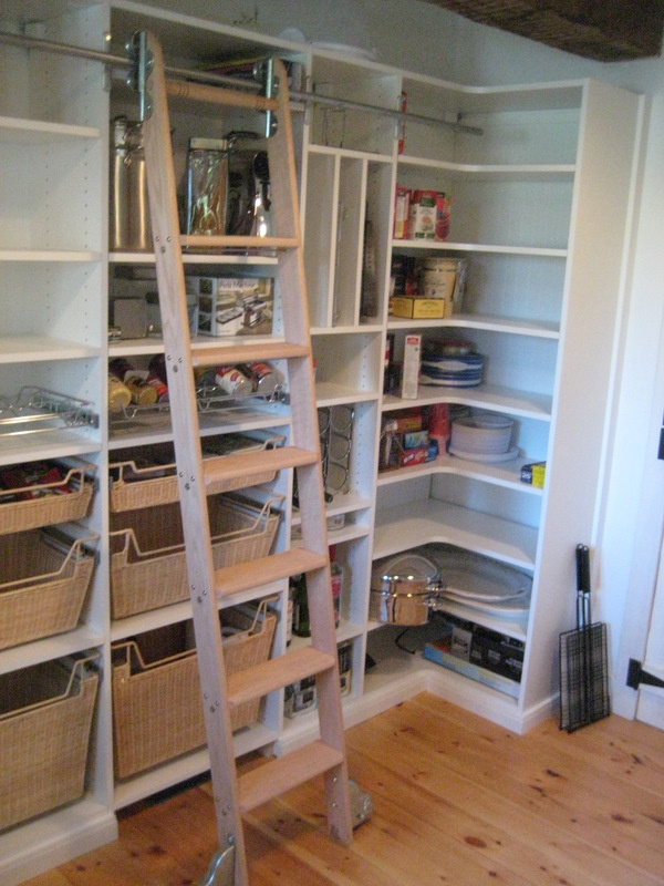 Pantry with ladder -- if I have enough space for a walk in ...