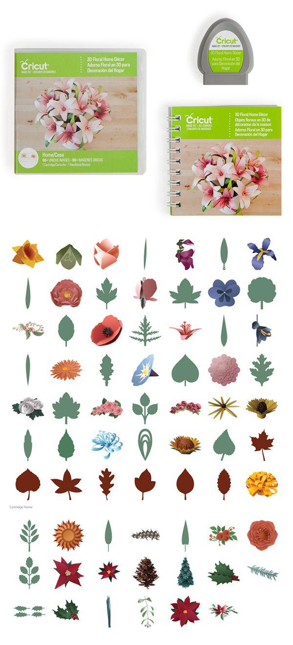 3d Floral Home Decor Cricut Cartridge