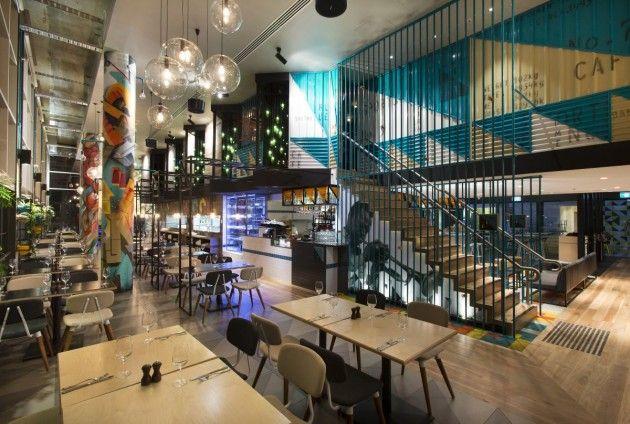 Studio Equator has designed Bluetrain Restaurant located in Melbourne, Australia.