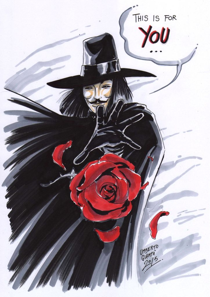 V for VENDETTA by UmbertoGiampaArt