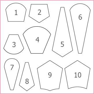 M nstre b ndbroderi pinterest m nstre for Free english paper piecing hexagon templates