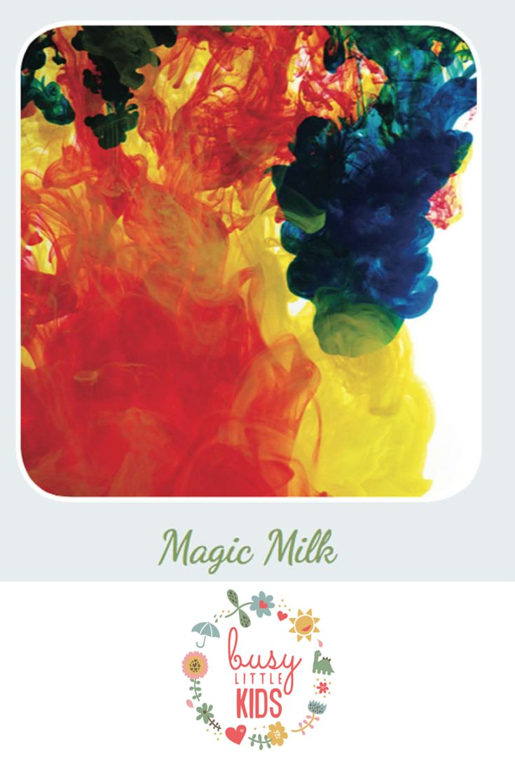 Fun, simple, easy rainy day kids activity  - Magic Milk