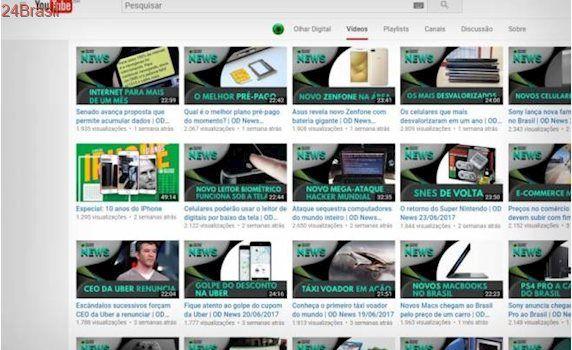 YouTube testa prévias animadas de vídeos no navegador