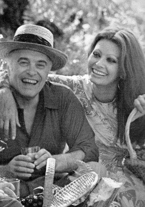 Carlo Ponti and Sophia Loren They first met when Sophia was just 15 and Carlo 37, married 7 years later they stayed together until his death in 2007 age 94!!