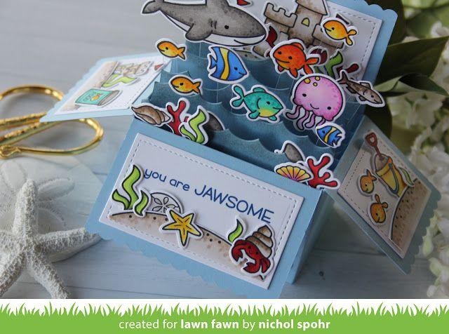 the Lawn Fawn blog: Lawn Fawn Video {6.1.17} A Fintastic Pop-up Card by Nichol!