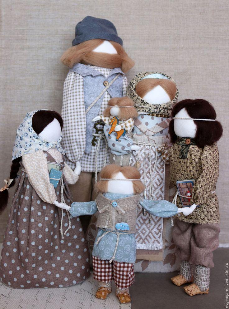 """Купить """"Семейный хоровод"""" авторские куклы образы. - бежевый, семья, хоровод, семейный очаг"""