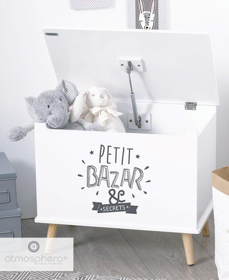 Coffre A Jouets Petit Bazar Et Secrets Atmosphera Coffre A