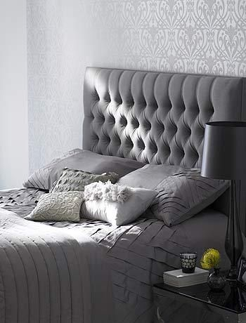 17 Best ideas about Grey Tufted Headboard on Pinterest  Grey bedroom decor, Cozy bedroom decor ...