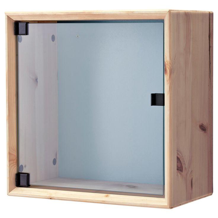 NORNÄS Wandvitrine - Kiefer grau/blau - IKEA