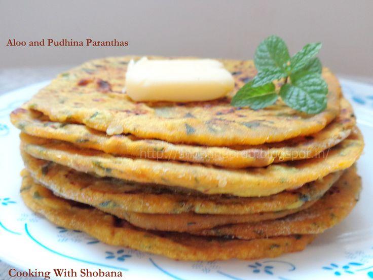 Aloo and Pudhina Paranthas: http://shobanaprao.blogspot.in/2014/08/aloo-and-pudhina-potato-mint-paranthas.html