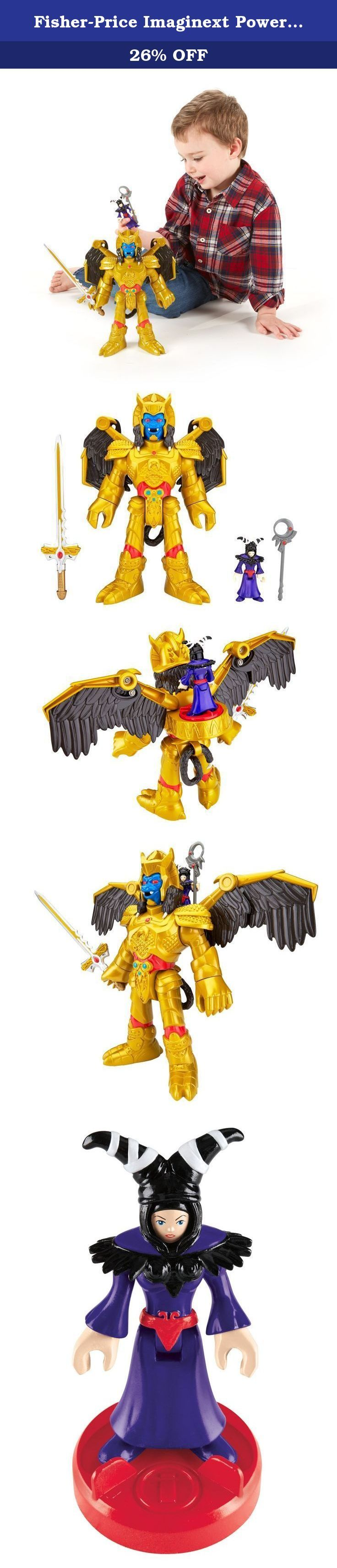 Fisher-Price Imaginext Power Rangers Goldar And Rita. The Deluxe Goldar and Sorceress Rita Repulsa figures will lead the evil forces as young Mighty Morphin Power Rangers fans recreate epic battle scenes. Turn the Power Pad on Goldar's back to release his wings and move his right arm up and down for sword-fighting action! It's up to young imaginations to figure out how the Mighty Morphin Power Rangers will defeat these 2 villains. Go Go Power Rangers!!.