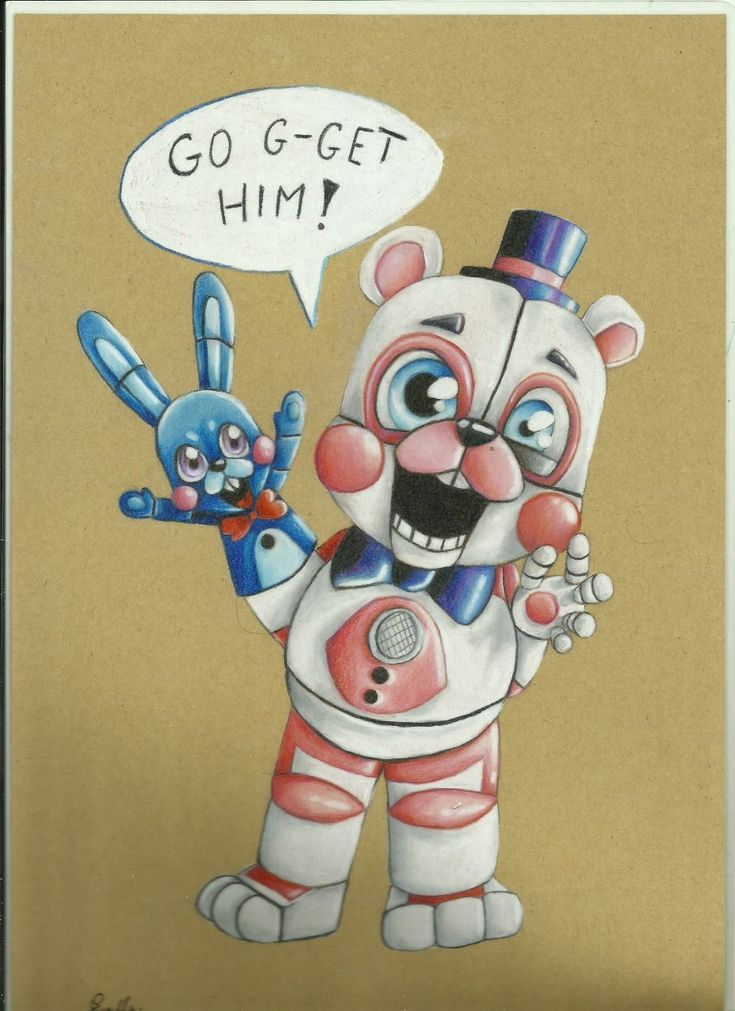 "wilczyca97: ""Maybe some art from fnaf. ;) Foxy from fnaf. Funtime Freddy with Bon Bon from fnaf sister location. (My art) """