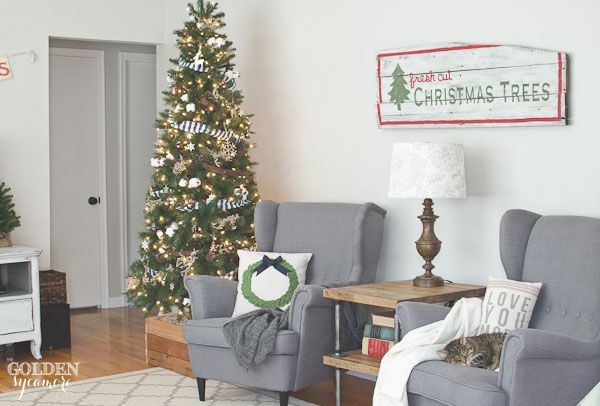 Fresh Cut Christmas Trees Sign - The Golden Sycamore