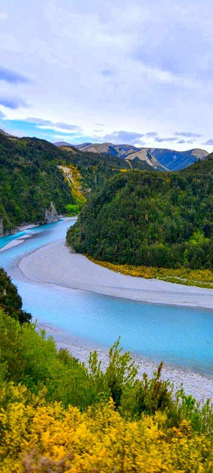 Waimakariki River, North Canterbury, New Zealand
