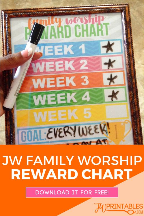 something we'll be using to keep track on our family worship! Maybe you can use it too #jw #familyworship