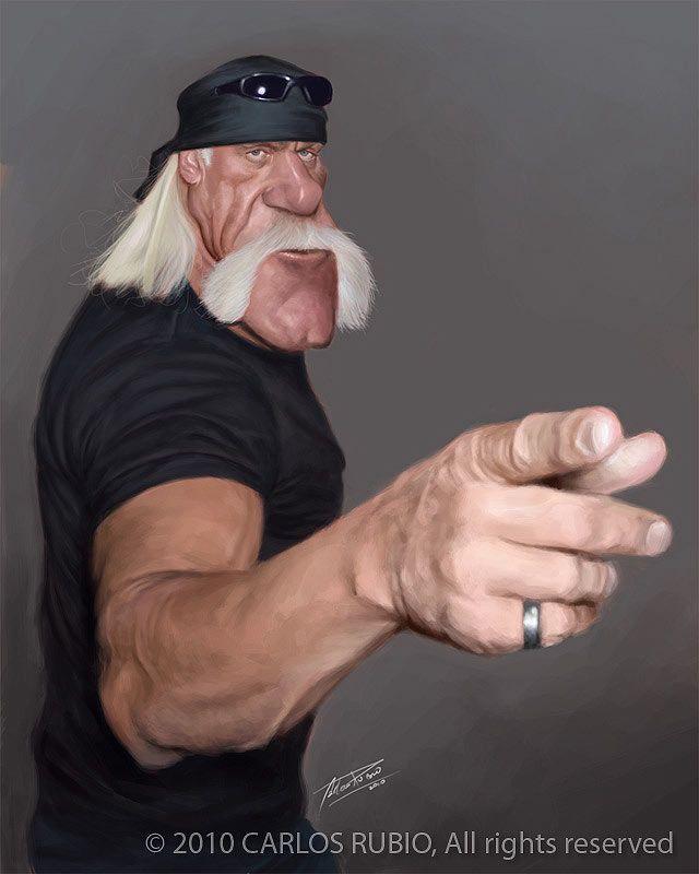 Caricatura de Hulk Hogan.