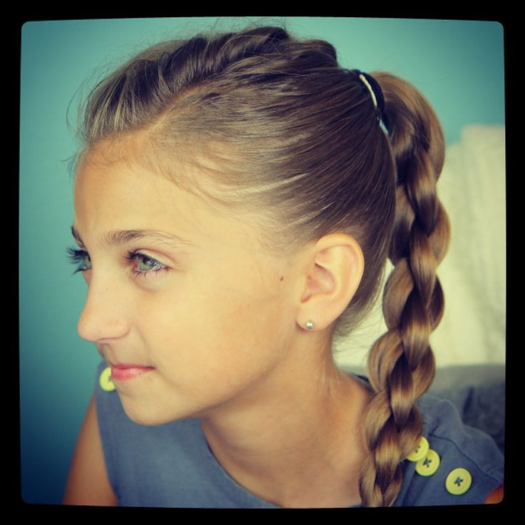 Frenchback into 3D Braid | Back-to-School Hairstyles and more Hairstyles from CuteGirlsHairstyles.com