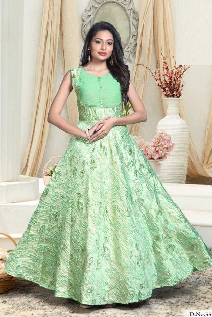 4c130bdabd Green Fancy Embroidered Designer Event Wear Floor Touch Gown Whatsapp :-  +91 9377709531 #wholesale #bulk #wholesalesupplier #who…   Bulk Designer  Gowns in ...