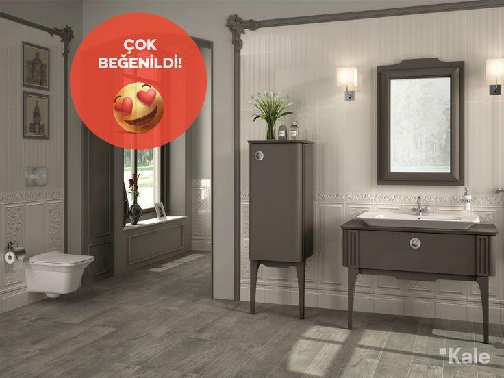 Neoklasik tarza modern bir bakış açısı katan Zeus serisi #çokbeğenildi #haftanınfavorisi #favoritebathrooms #kale #banyo #banyodekorasyon #banyomobilyaları #bestbathrooms