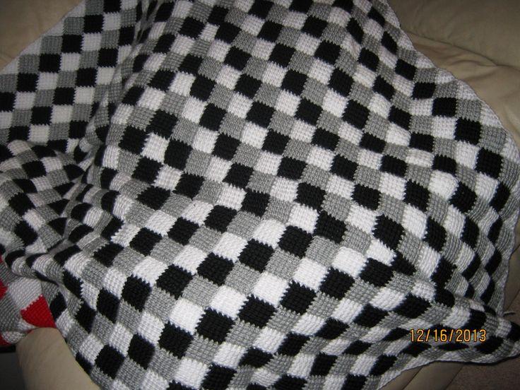 Crochet Entrelac Afghan Pattern Choice Image - knitting patterns ...