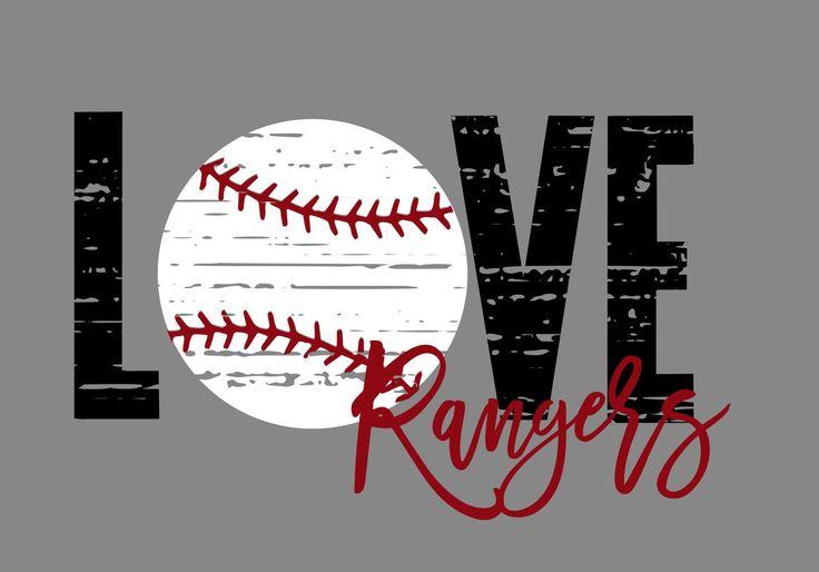 Download Love Rangers Distressed Baseball SVG   Baseball, Team mom ...