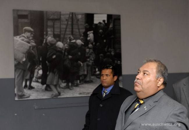 The President of Nauru, Baron Waqa, visited the Auschwitz Memorial and Museum on November 21. This was the first visit of a representative of this republic in Micronesia to the former German concentration and extermination camp.  More: http://en.auschwitz.org/m/index.php?option=com_content&task=view&id=1148&Itemid=7