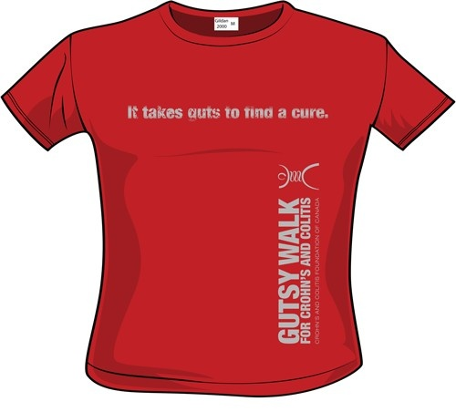 Gutsy Walk 2013 T-Shirt Design - Option B