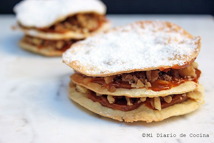 Mi Diario de Cocina | Chilean pastry of dulce de leche and walnuts from Curico | http://www.midiariodecocina.com/en