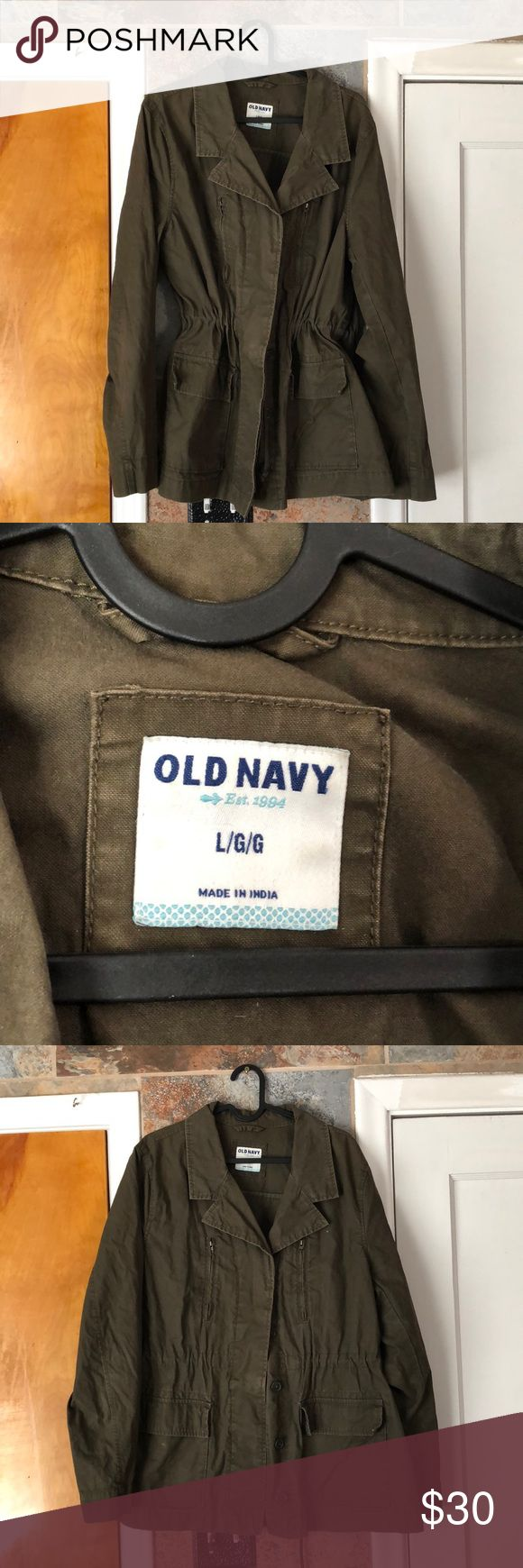 Old Navy Green Army Jacket Army green jacket, Army
