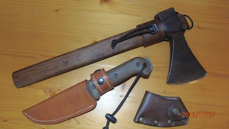 Ka Bar Bk2 and italian axe