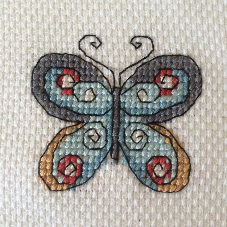 Butterfly cross stitch kanaviçe etamin kelebek