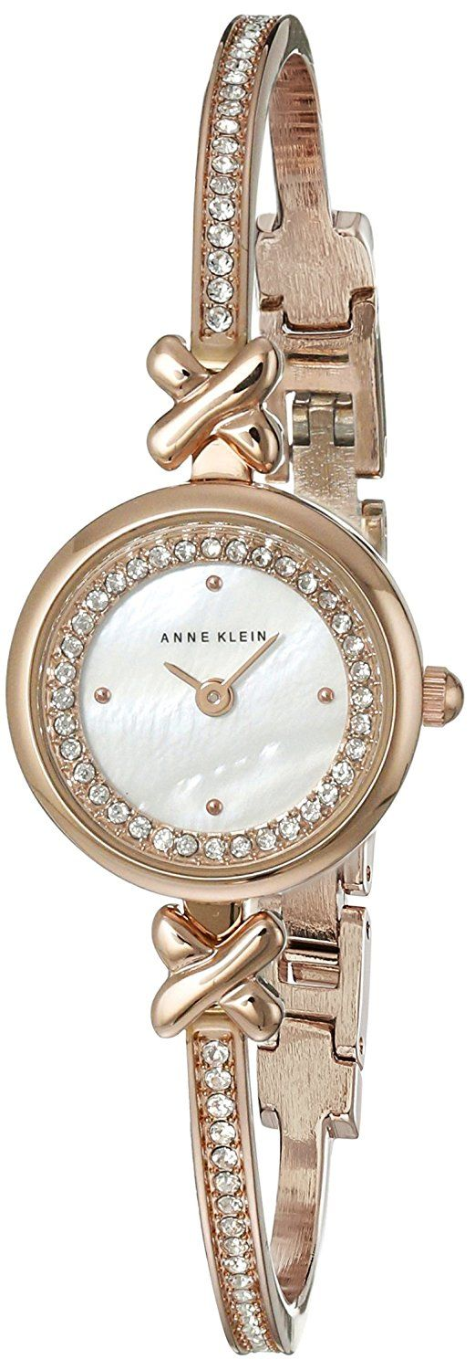 Anne Klein Women's AK/1688MPRG Swarovski Crystal-Accented Rose Gold-Tone Watch >>> You can get more details by clicking on the image.