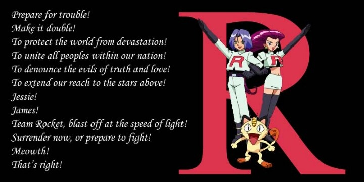 Image result for team rocket motto