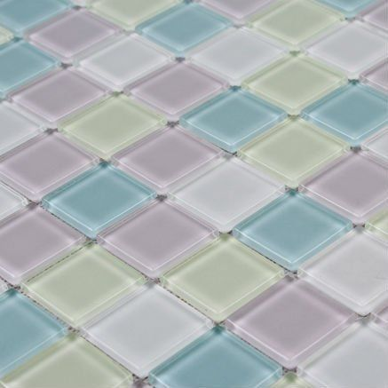 Cheap Mosaics, Buy Directly from China Suppliers: Each sheet of this glass tile is approximately 1 sq. ft. per sheet and is mesh mounted on high quality fiber glass for