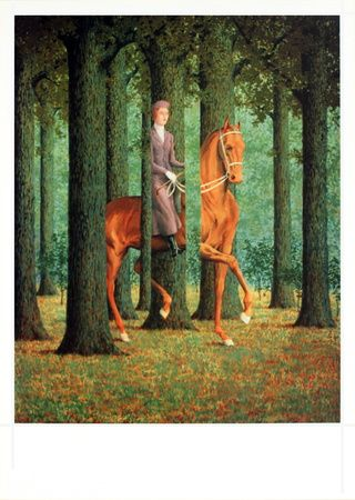 Le Blanc-Seing by Rene Magritte. Art print from Art.com.