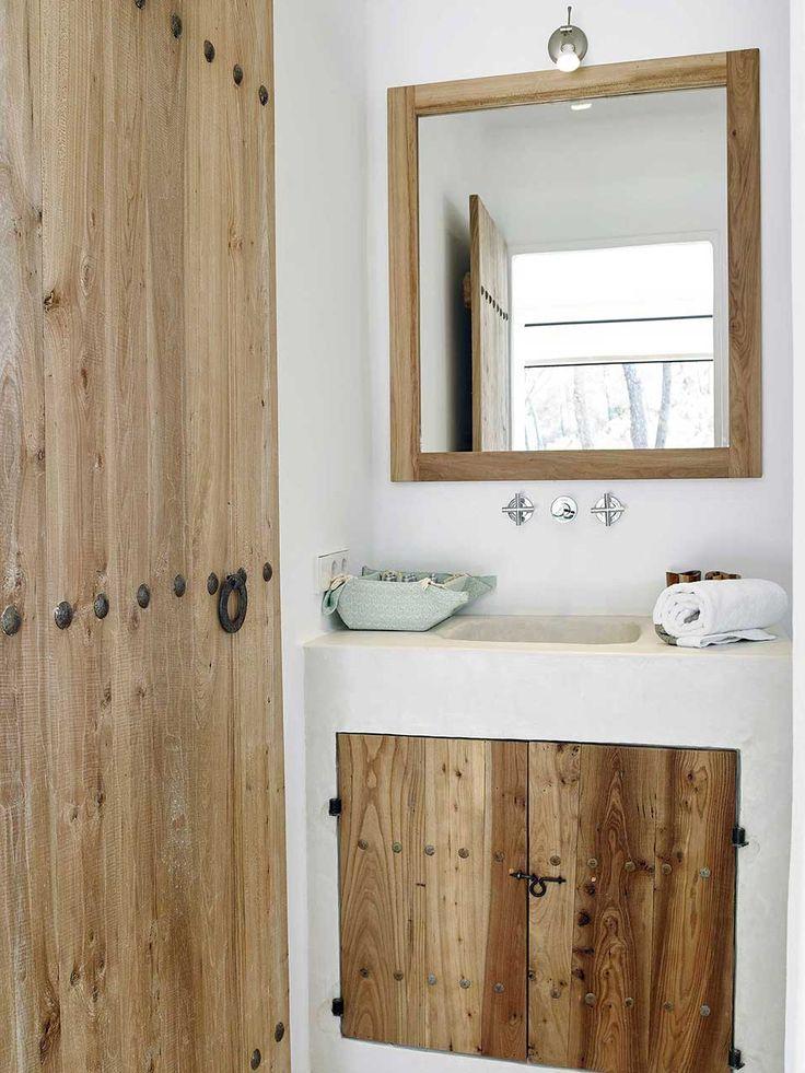 Baño griego - cemento y madera 5