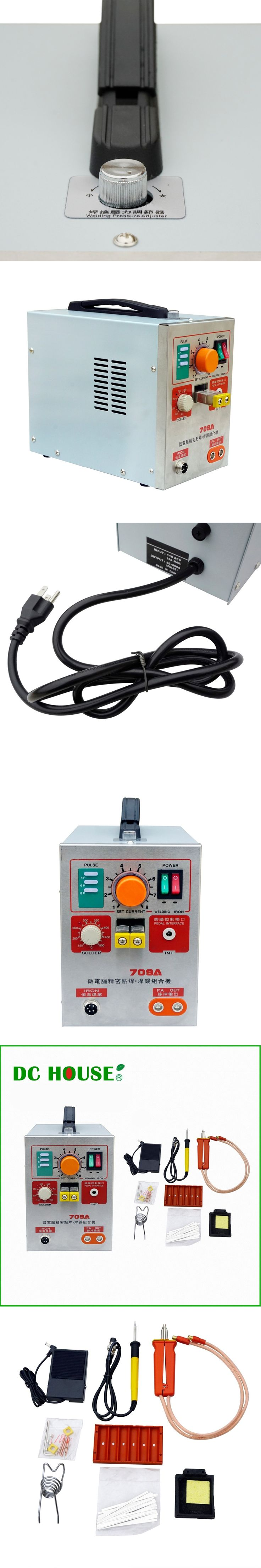 ECO 1.9KW LED Pulse Battery Spot Welder 709A with Soldering Iron Station Spot Welding Machine for 18650 16430 14500 Battery Pack