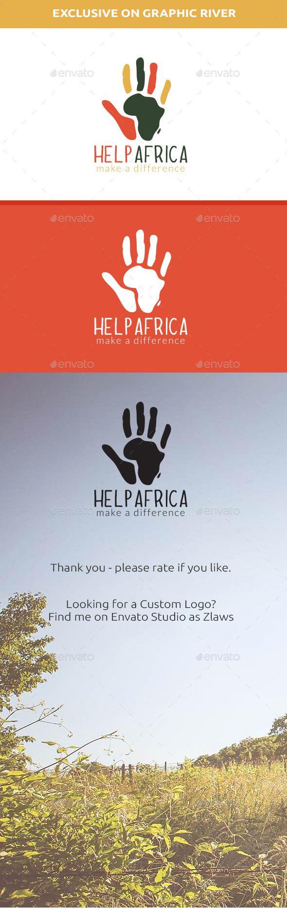 Help Africa Logo - Abstract Logo Templates