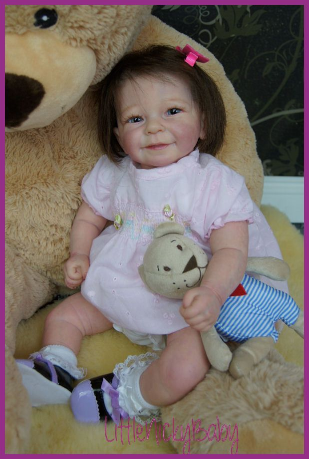 Cute Reborn Baby Doll Soft Silicone 18 Inch Handmade Baby: LNB♥ Reborn Baby Toddler Girl ♥Rieke By Linde Scherer