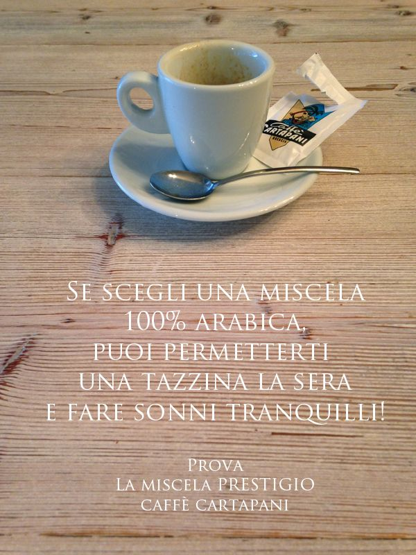 Miscela Prestigio Caffè Cartapani 100% arabica