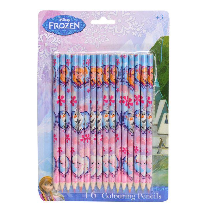Disney Frozen Kleurpotloden 16 stuks Afmeting:lengte potlood 17,5 cm - Disney Frozen Kleurpotloden 16 stuks