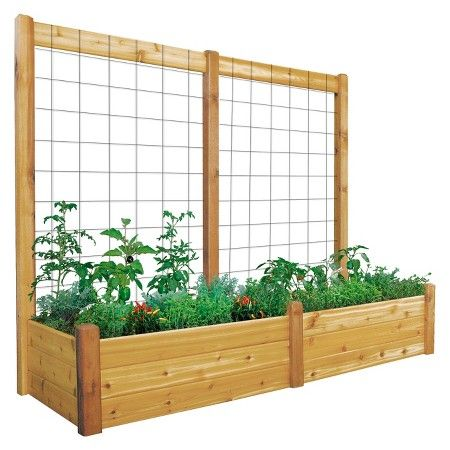 garden trellis ideas makes a great trellis for my garden gronomics raised garden bed with trellis
