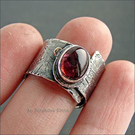 Strukova Elena - авторские украшения - Перстень с турмалином