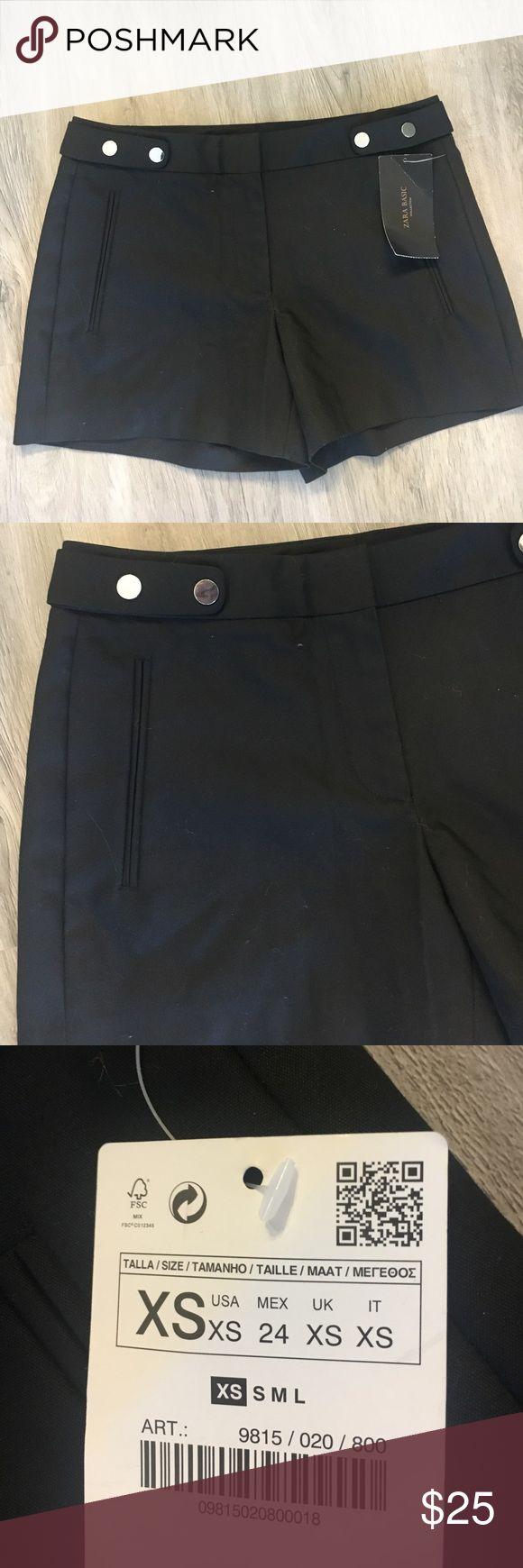 Black Zara shorts NWT XS Black Zara shorts. NEW with tags. Never worn. Size XS Zara Shorts