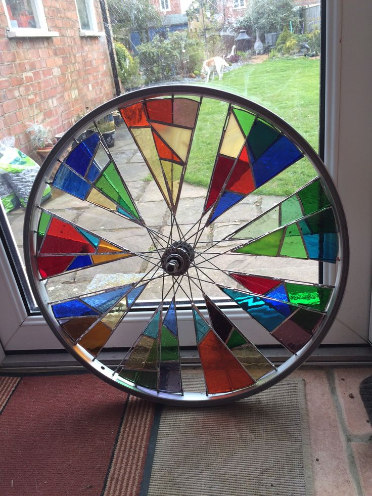Julie S Bike Wheel Stained Glass Art Stained Glass