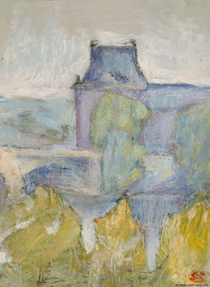 Sigrid Schauman (Finnish, 1877-1979), Landscape, 1910. Oil on canvas, 33 x 24 cm
