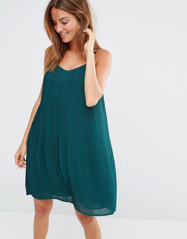 Image 1 ofOysho Pleated Swing Beach Dress